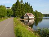 hráz a rybník Medlov